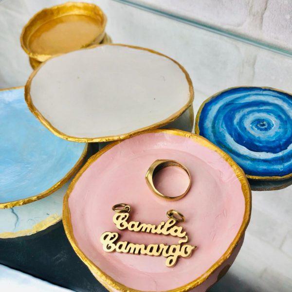 #PareceComprado Porta Anéis de Cerâmica por Camila Camargo – Produtos Casa da Arte