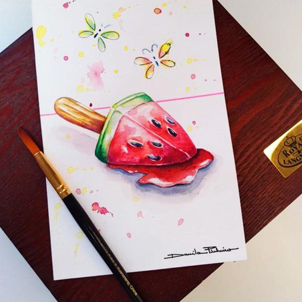 Pintura em Aquarela por Danila Pinheiro